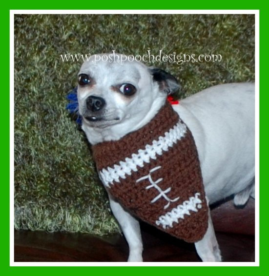 Football Dog Bandana ~ Sara Sach - Posh Pooch Designs