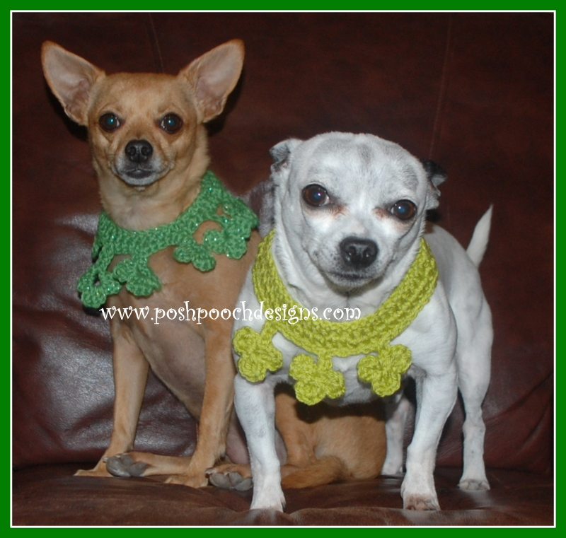 Clover Dog Collar ~ Sara Sach - Posh Pooch Designs
