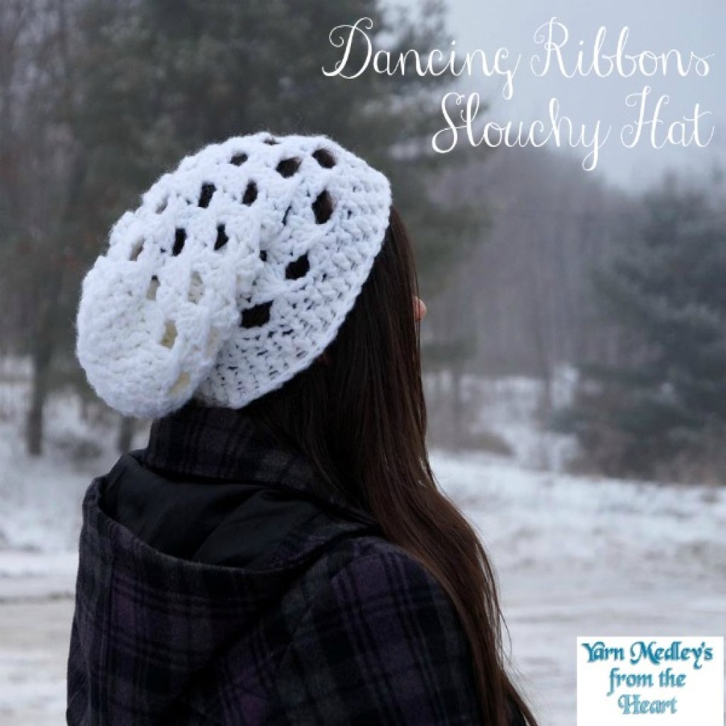 Dancing Ribbons Slouchy Hat ~ Nondas Hensley - Cre8tion Crochet