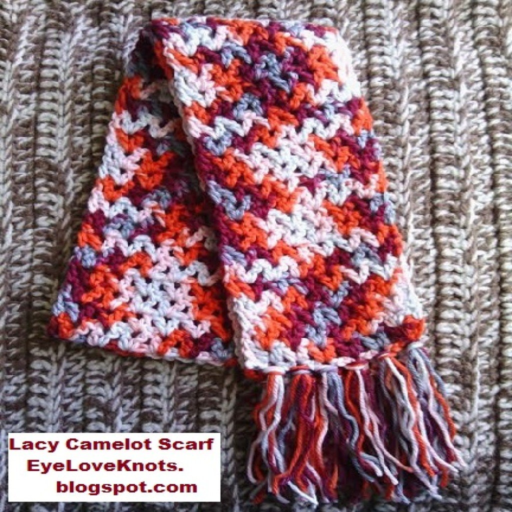 Crochet Scarf Pattern Child : Lacy Camelot Child Summer Scarf ~ FREE Crochet Pattern