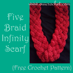Five Braid Infinity Scarf ~ Oui Crochet