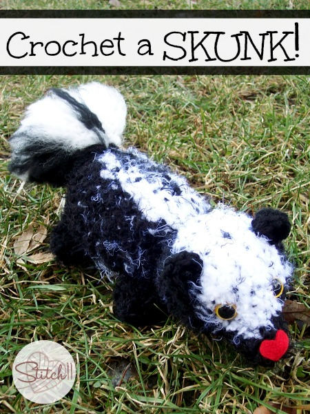 Crochet A Skunk ~ Stitch11