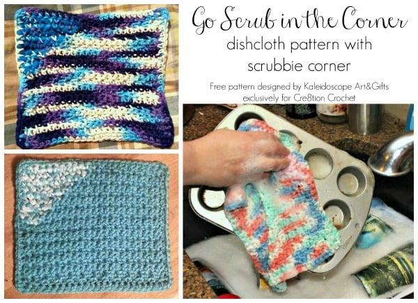 Go Scrub in the Corner Dishcloth ~ Cre8tion Crochet