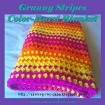 Granny Stripes Color-Burst Blanket ~ Oui Crochet