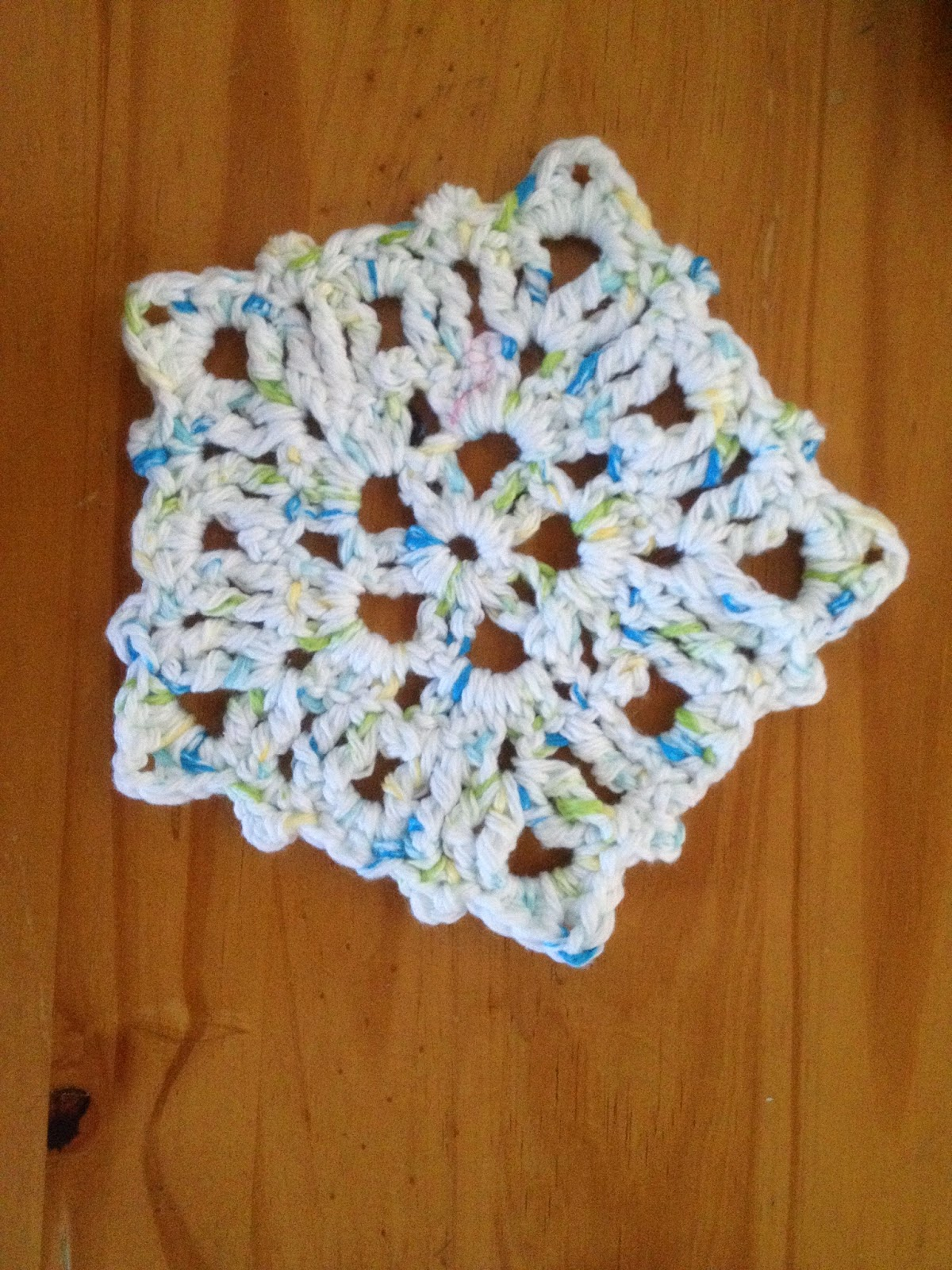 Snow Flake Dish Cloth ~ Manda Proell - MandaLynn's Crochet Treasures