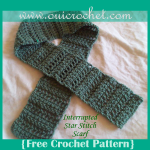 Interrupted Star Stitch Scarf ~ Oui Crochet