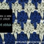 Larksfoot Stitch Afghan Square ~ Oombawka Design
