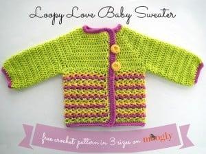 Loopy Love Baby Sweater ~ Moogly