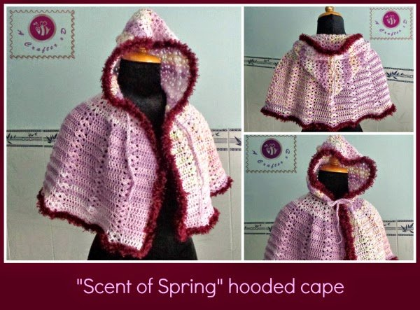 Free Crochet Pattern For Hooded Cape : Scent of Spring Hooded Cape ~ FREE Crochet Pattern