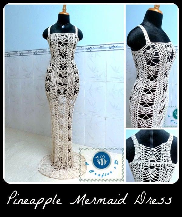 Pineapple Mermaid Dress ~ Maz Kwok's Designs