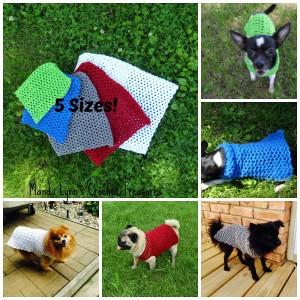 Any Occasion Dog Sweater 5 Sizes ~ Manda Proell - MandaLynn's Crochet Treasures
