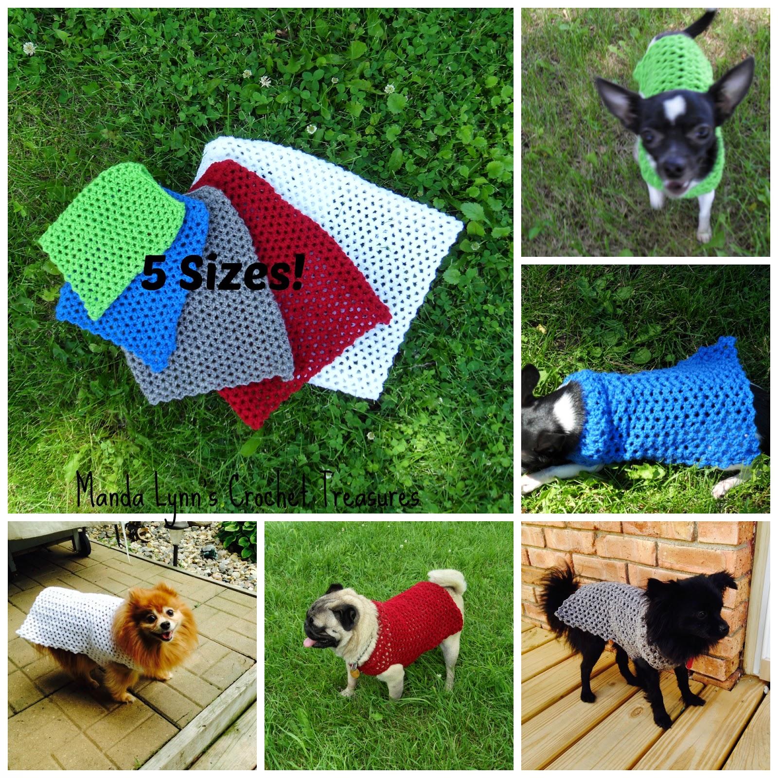 Crochet Pattern Small Dog Sweater