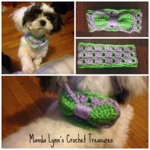 Puppy's Picnic Bow ~ Manda Proell - MandaLynn's Crochet Treasures