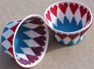 Bead Heart Basket ~ Carol Ventura's Tapestry Crochet