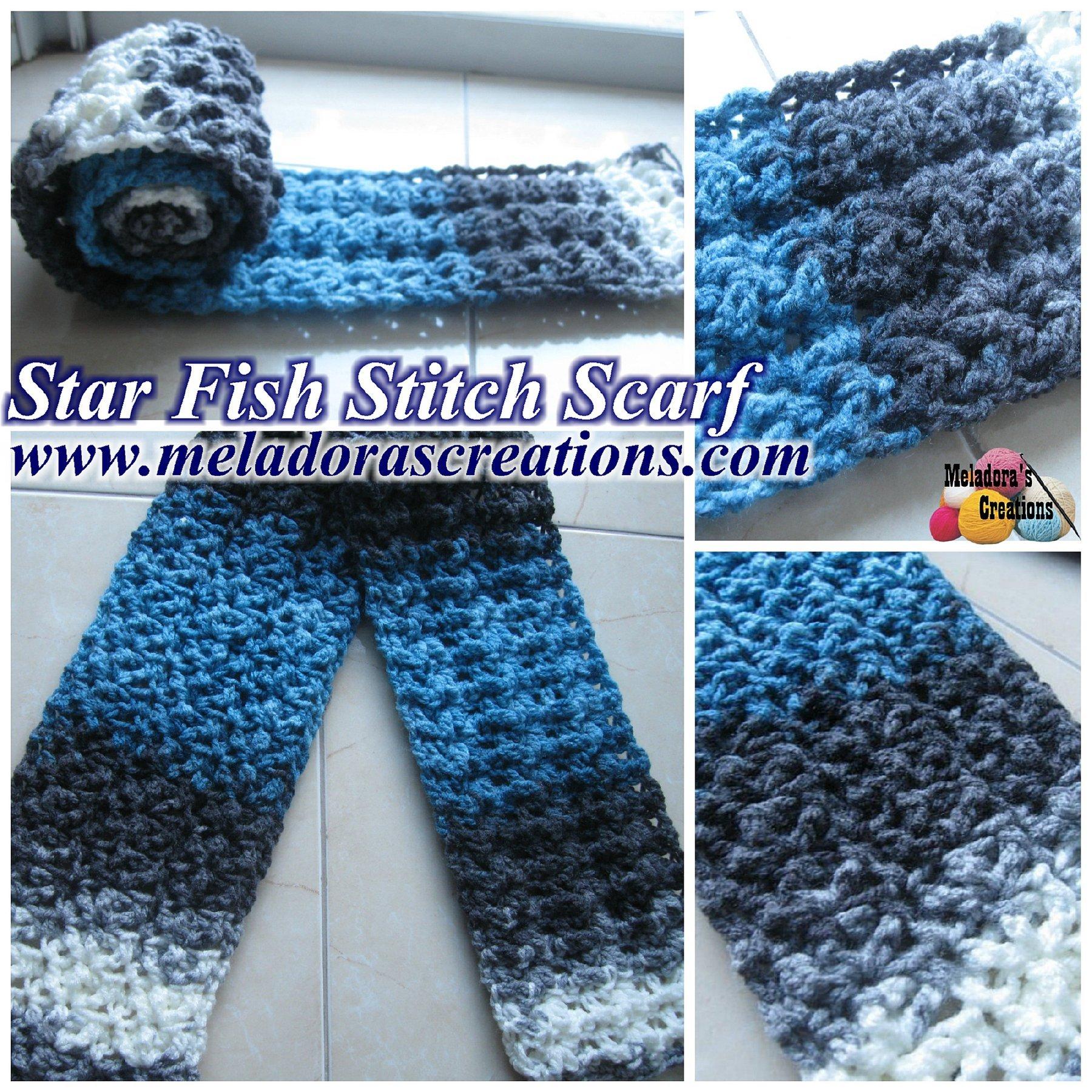Star Fish Stitch Scarf ~ Meladora's Creations