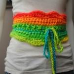 The Uniquely Neon Crochet Belt ~ Cre8tion Crochet