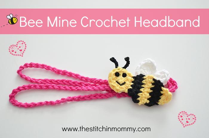 """Bee Mine"" Crochet Headband ~ The Stitchin' Mommy"