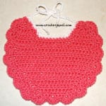 Crochet Baby Bib ~ Amy - Crochet Jewel
