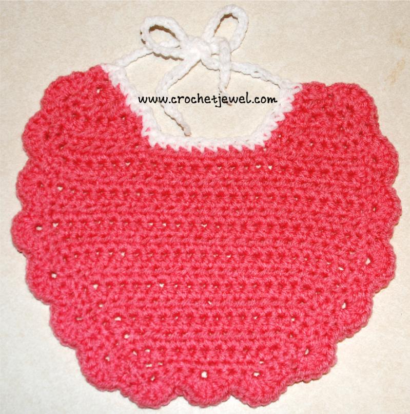 Crochet Patterns Baby Bibs : Crochet Baby Bib ~ FREE Crochet Pattern