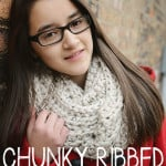 Chunky Ribbed Infinity Scarf ~ Rebecca Langford - Little Monkeys Crochet