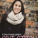 Grit Stitch Infinity Scarf ~ Rebecca Langford - Little Monkeys Crochet