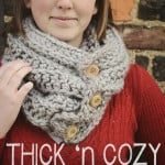Thick 'n Cozy Ribbed Cowl ~ Rebecca Langford - Little Monkeys Crochet