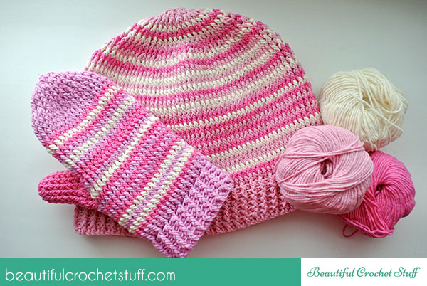Crochet Hat And Mittens Free Crochet Pattern