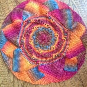 Sunrise Mandala ~ Nicole Cormier - Tunisian Crochet