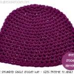 Double Stranded Single Crochet Hat ~ Oombawka Design