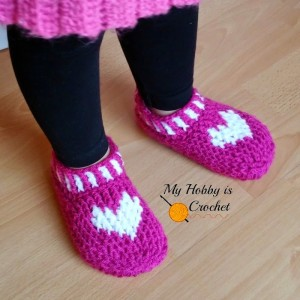 Heart & Sole Slippers - Small Child Size ~ My Hobby is Crochet