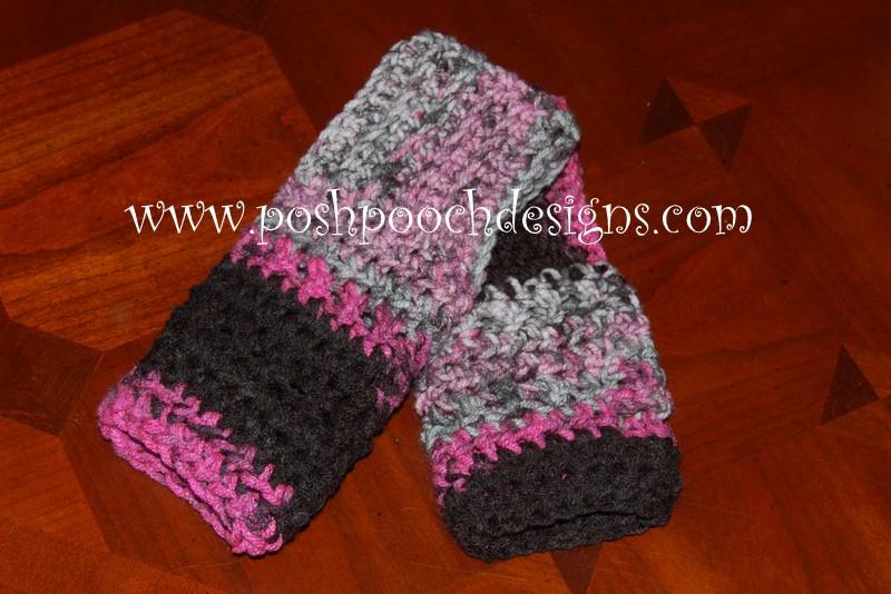 World's Easiest Fingerless Gloves ~ Sara Sach - Posh Pooch Designs