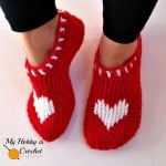 Heart & Sole Slippers ~ My Hobby is Crochet