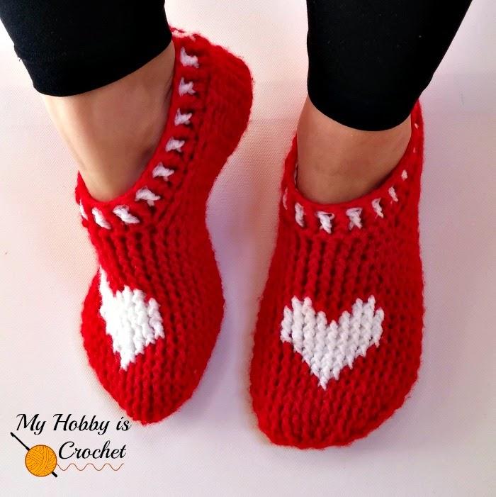 Heart & Sole Slippers ~ My Hobby is Crochet