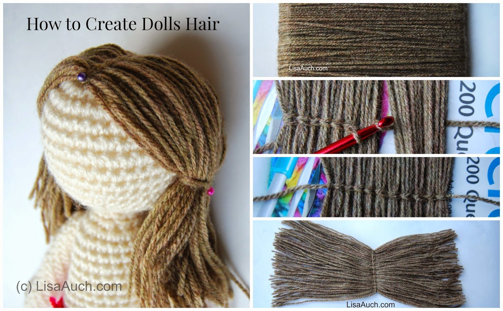 How to Crochet Doll Hair ~ Free Crochet Patterns and Designs by ...
