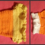 Candy Corn XS Dog Costume ~ Manda Proell - MandaLynn's Crochet Treasures