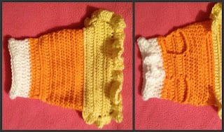 Candy Corn XS Dog Costume ~ Manda Proell - MandaLynn's Crochet Treasures