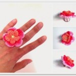 Crochet Flower Ring ~ Annemarie's Crochet Blog