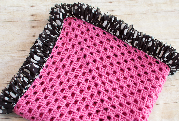 Ruffle Edged Crochet Baby Blanket ~ Petals to Picots