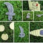 Pirate Applique Set ~ Manda Proell – MandaLynn's Crochet Treasures