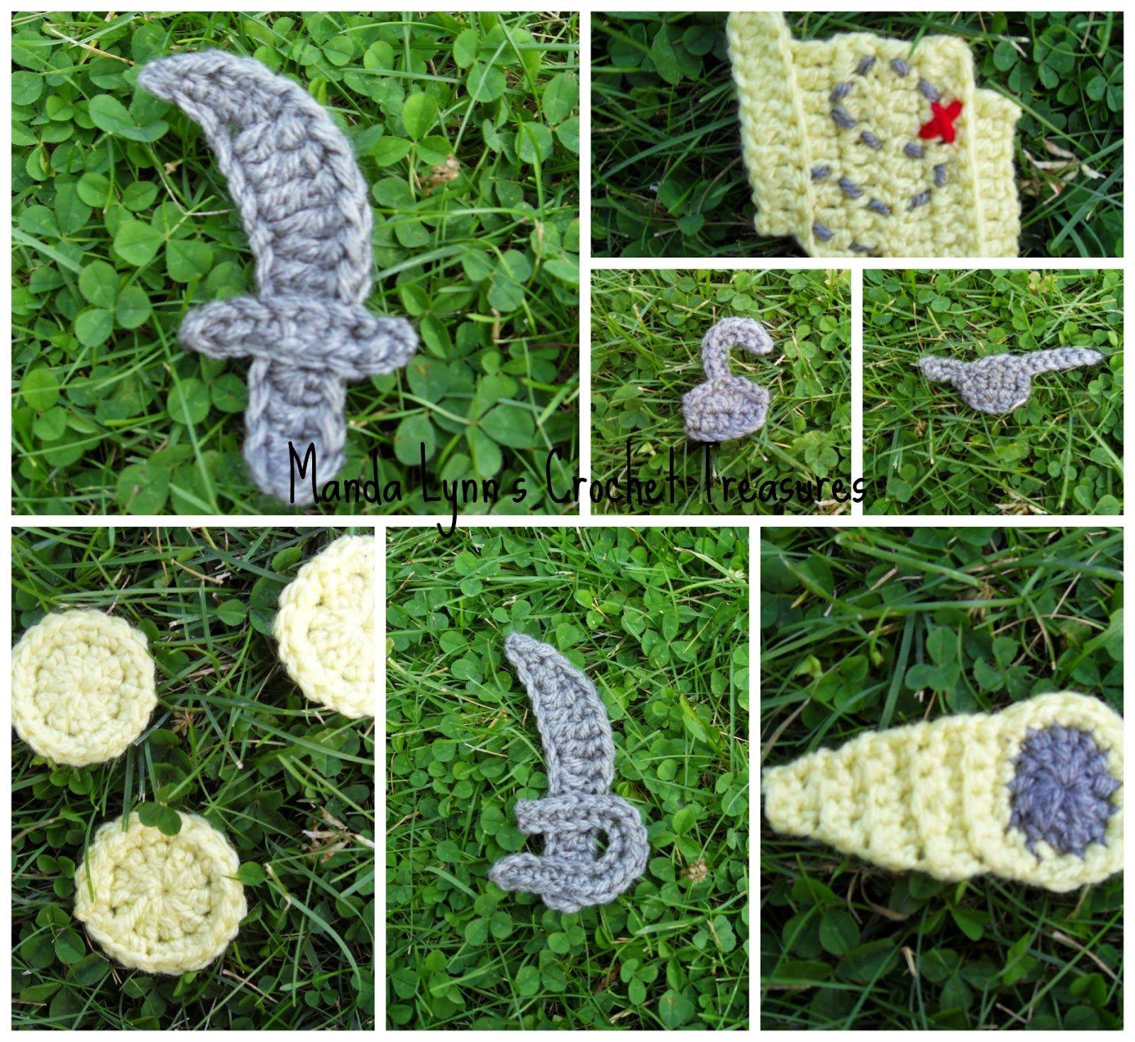 Pirate Applique Set ~ Manda Proell - MandaLynn's Crochet Treasures