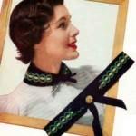 Black Velvet Belt ~ Free Vintage Crochet