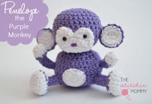 Penelope the Purple Monkey ~ The Stitchin' Mommy