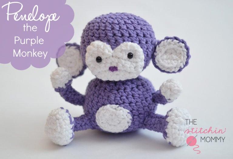 Penelope the Purple Monkey ~ The Stitchin' Mommy