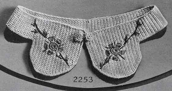 Collar Pattern No. 2253 ~ Free Vintage Crochet