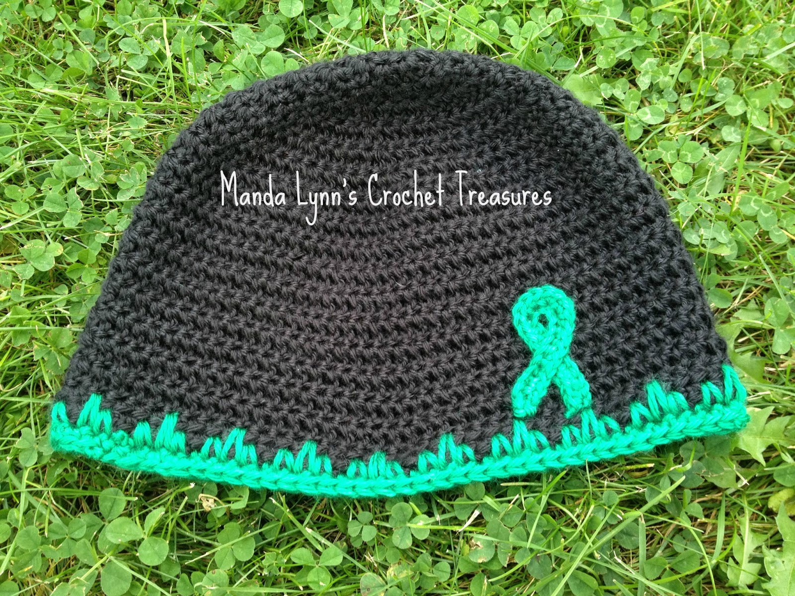 T.B.I. Awareness Hat - Adult Size ~ Manda Proell - MandaLynn's Crochet Treasures