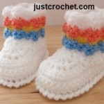 Baby Booties ~ JustCrochet