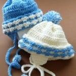 Newborn Baby Boy Helmet ~ JustCrochet