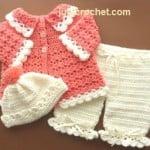 Coat, Pants & Bobble Hat ~ Just Crochet