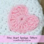Heart Applique ~ Cream Of The Crop Crochet