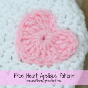 Heart Applique ~ Cream Of The Crop Crochet